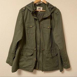 Plus Hooded Anorak Jacket